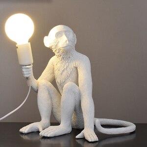 Image 5 - 樹脂猿ペンダントランプウォールリビングルームライトホーム pendante 光沢 E27 電球 kroonluchter luminaria ルクス decoracion
