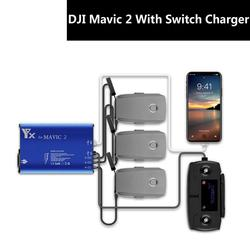 Mavic2 Drone Battery Charger  With Switch Aluminum Alloy Charger Simultaneously Charging Battery 3pcs For DJI MAVIC2 Accessories