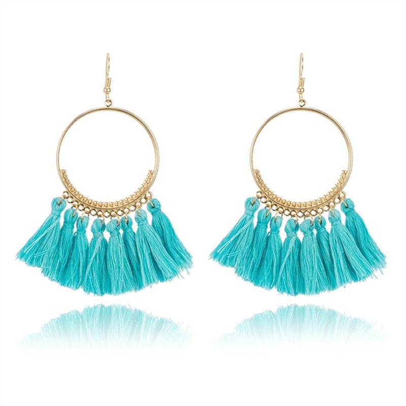Bohemian Handmade Earrings For Women Boho Style Woman Tassel Earring Female Jewelry Bridal Fringed Vintage Long Earrinngs Gifts(China)