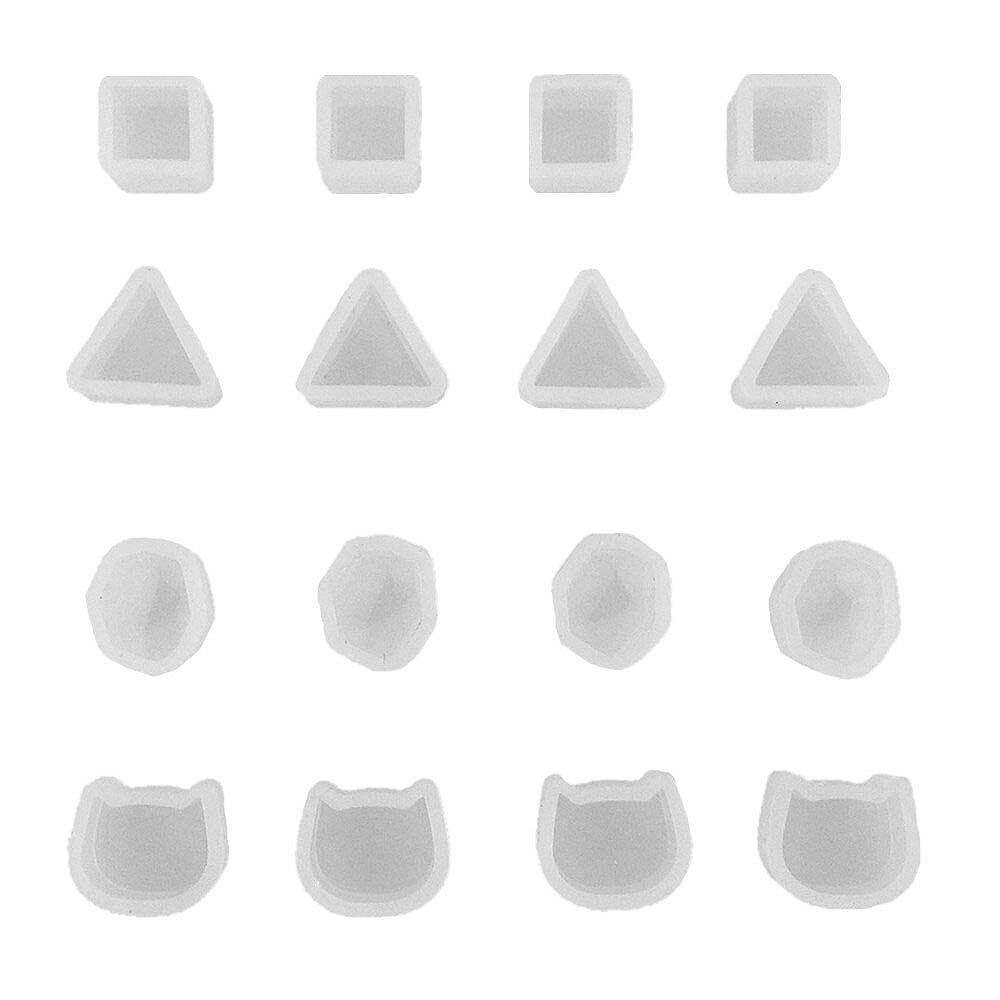 16 Stücke Tiny Silikon Schmuck Ohrring Halskette Anhänger Form Casting Mould Schmuck Machen Diy Handwerk Werkzeug