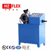 Free shipping to Russia 380v 3kw 51mm HZ-50D multi-function automatic Horizontal Hydraulic Hose pipe Crimping Machine