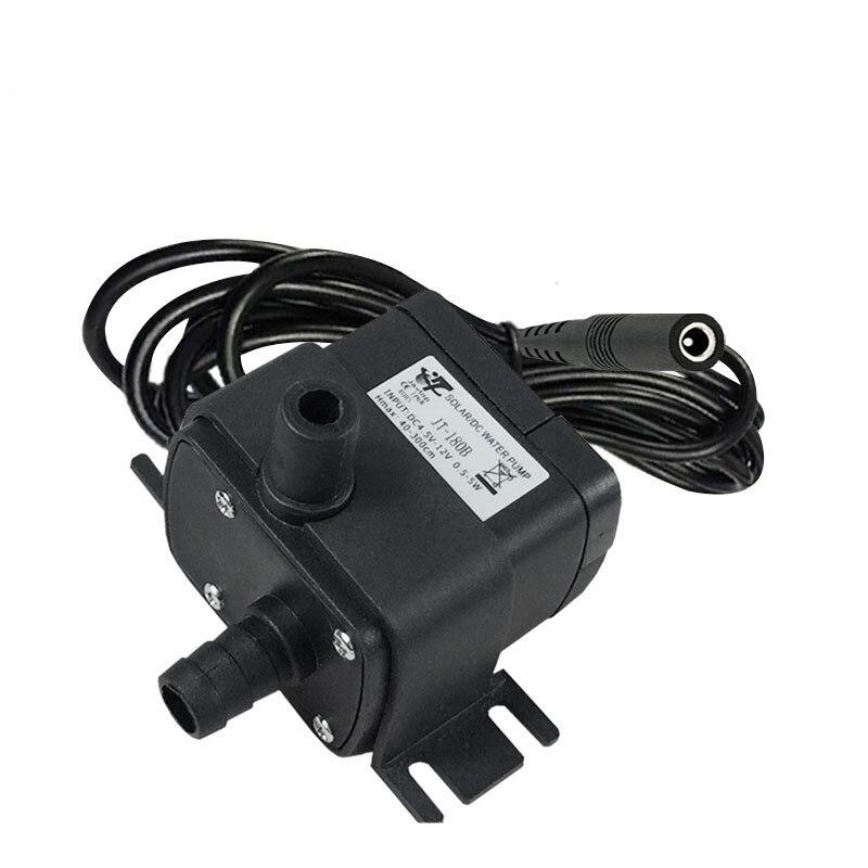 1 Pcs Mini Schwarz Jt-180b 12v24v Dc Ladegerät Micro Bürstenlosen Tauch Pumpe Hohe Temperatur Widerstand Brunnen Pumpe