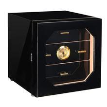 3 ящика кедровая древесина выстроились сигары хьюмидор чехол с увлажнителем гигрометр влаги Mete увлажнение шкафчик