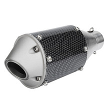Universal Motorcycle Exhaust Pipe Muffler Modified 51mm 61mm Inlet Carbon fiber look Stainless Steel