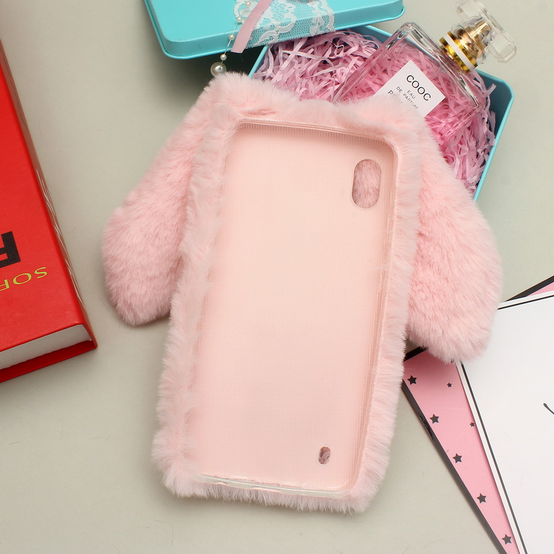 3D Rabbit Case For Samsung A10 Case 6 2 quot Cute Rabbit Ears Soft TPU Back Cover For Samsung Galaxy A10 Case Fur Plush Bunny Funda in Fitted Cases from Cellphones amp Telecommunications