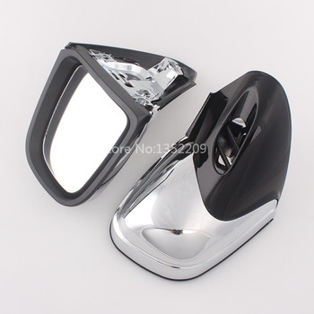 A Pair Chrome Motorcycle Rear View Side Mirrors Fti For BMW K1200 K1200LT K1200M 1999-2008 00 01 02 03 04 05 06 07