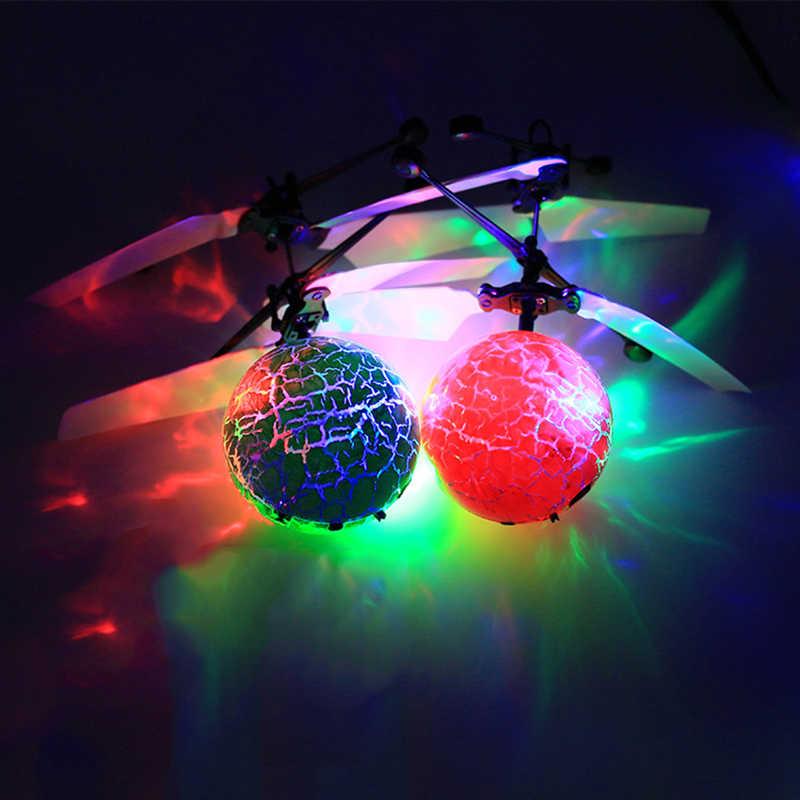 Colorido luminoso brinquedos indução voando brinquedo colorido flash luz voando bola para crianças presentes das crianças