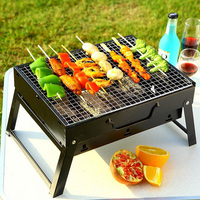 Folding Carbon Mini Grill Charcoal Grill Household Portable Barbecue Vertical Outdoor Charcoal Oven Camping Grills Bbq Tools