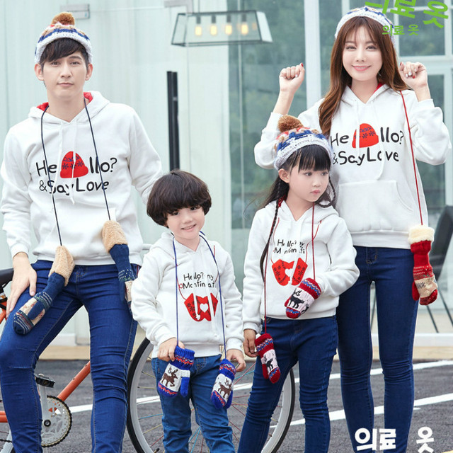 3d440aa2c81c High Quality Family Christmas Sweaters Hoodies Father Mother Son Daughter  Matching Clothes Mom Dad Say Love Baby SweatshirtCA408