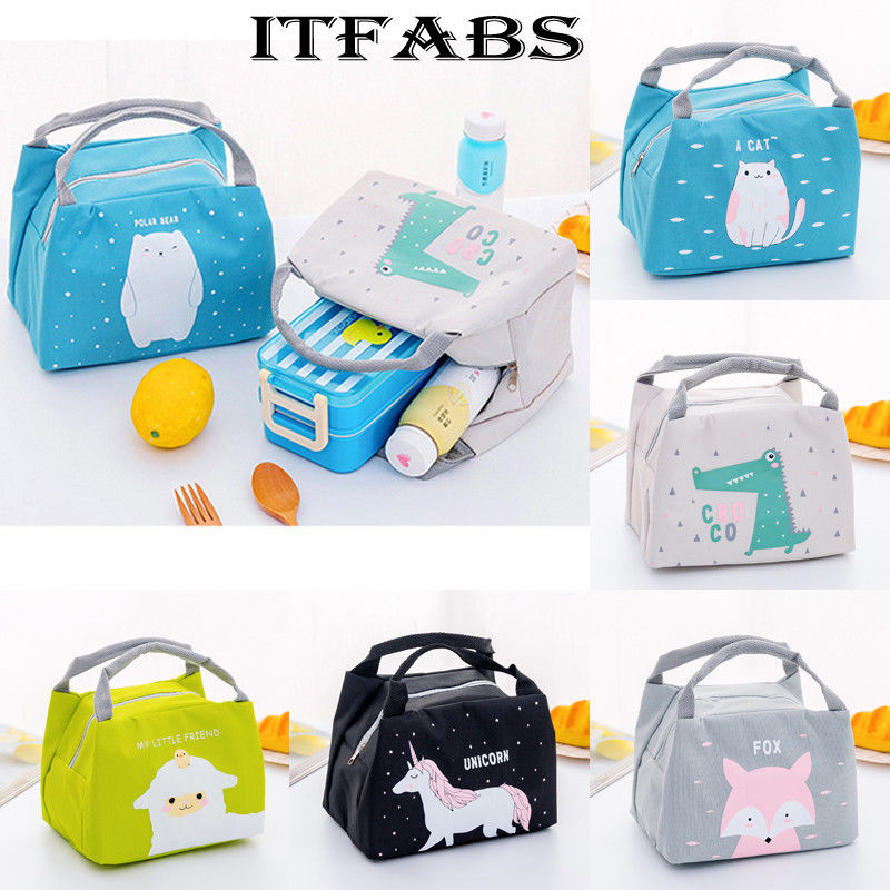2019 Hot Cute Women Ladies Girls Kids Portable Insulated Lunch Bag Box Picnic Tote Cooler Lunch Bags