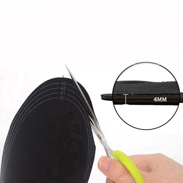 Стельки из углеродного волокна с электрическим подогревом для обуви, теплые носки, обогреватель ног, USB зарядка, зимние теплые подушечки, один размер, подходит для большинства ног