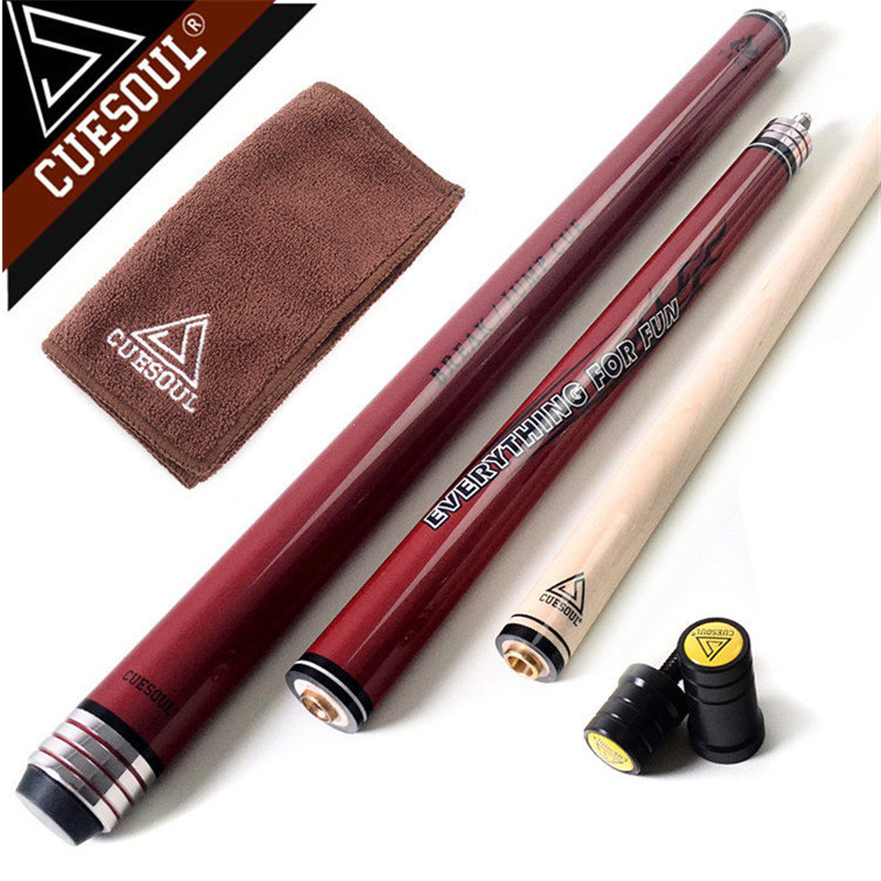 CUESOUL Maple Pool Cues Punch & Jump Cue Pool Billiards Cue Stick 58 Inch 20oz With Good Q 2017 poinos break pool cue punch