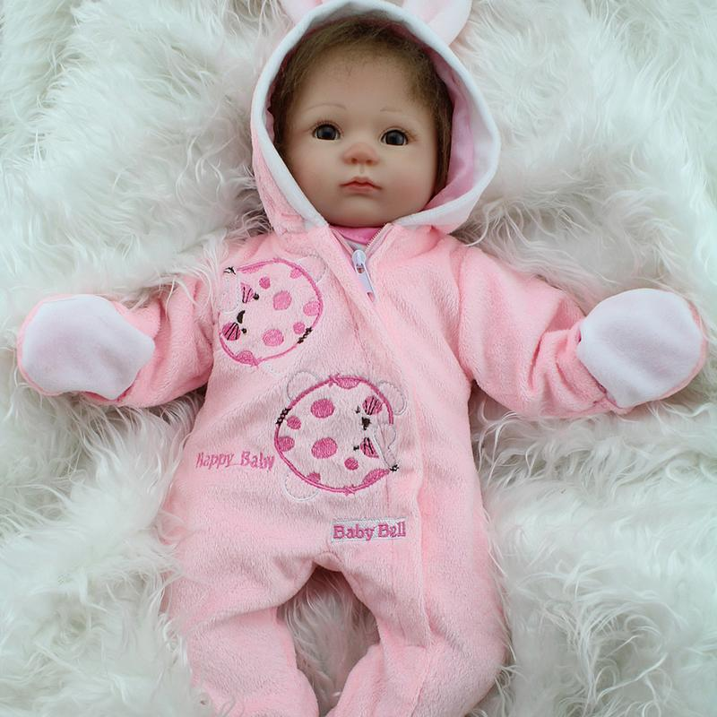 New Popular Full Silicone Doll Simulation Of Regenerated Girl Dolls With Soft Cloth Body Reborn Baby Dolls                      New Popular Full Silicone Doll Simulation Of Regenerated Girl Dolls With Soft Cloth Body Reborn Baby Dolls
