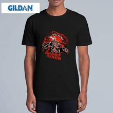 GILDAN Ghost Rider t shirt Men Cool Film Tees Active Printed t-shirt Male Short Sleeve O Neck Top Loose Rock Hip Hop tshirt