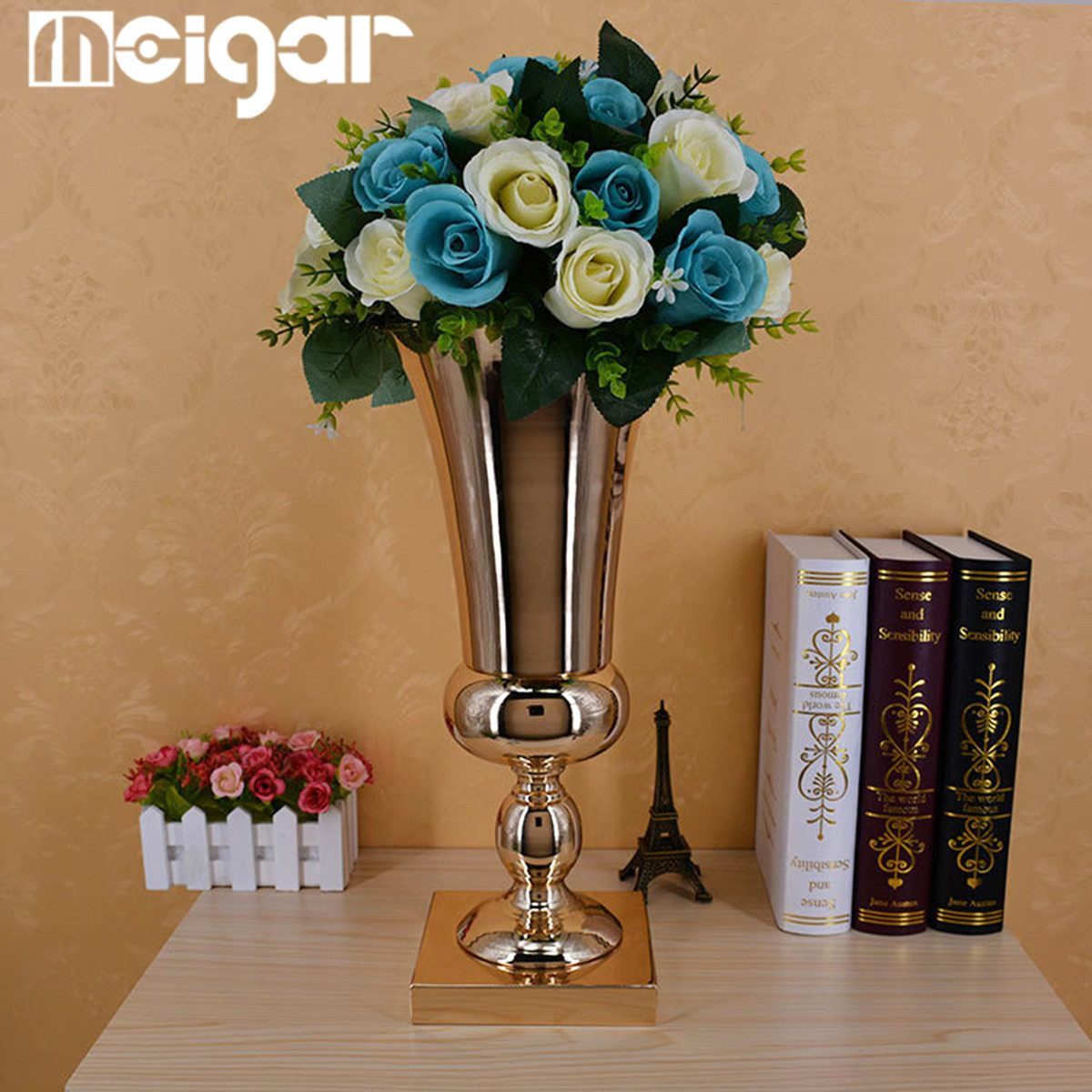 Flower Vases For Weddings: 43CM Tabletop Vase Metal Wedding Flower Vase Home Table