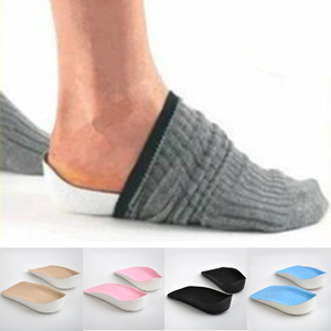 Height Increase Elevator Shoes Insole 2.5cm Lift Taller In Sock Arch Support Heel Pads For Women Men Invisible Shoes Insoles