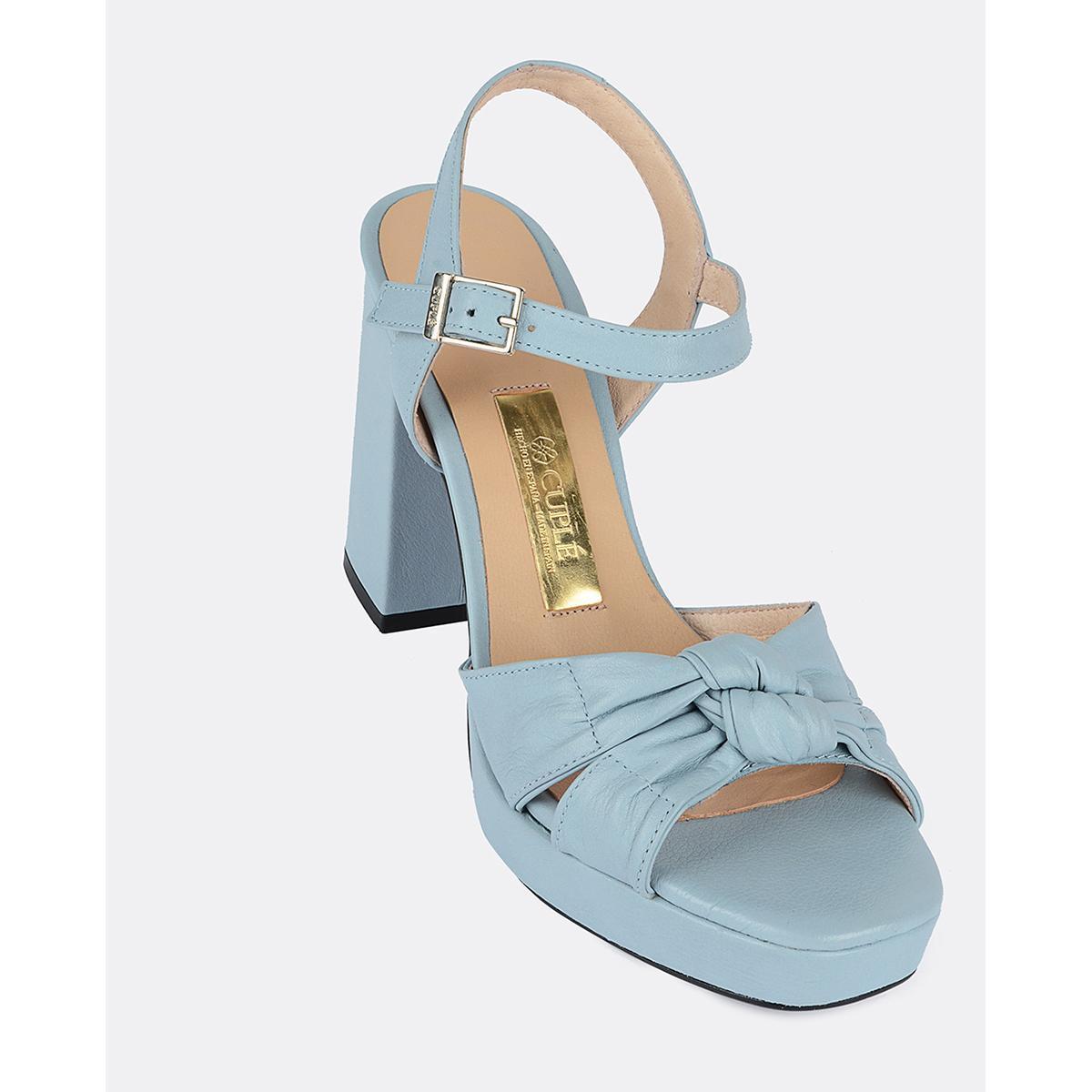 Tacon Cuple Zapatos Mujer De Celeste Piel Wq1wzr nPO8k0w