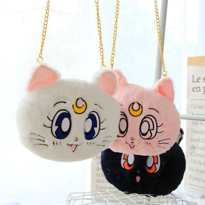 2018 new Anime Card Sailor Moon Shoulder Bag Cosplay Costume Accessories Cute Sweet Messy Messenger Bag Cat Moon Wallet