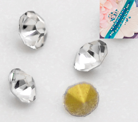 b16746 Doreenbeads Clear Point Back Rhinestones Pp14 2.1x1.3mm Sold Per Lot Of 1440 Yiwu Packing Of Nominated Brand