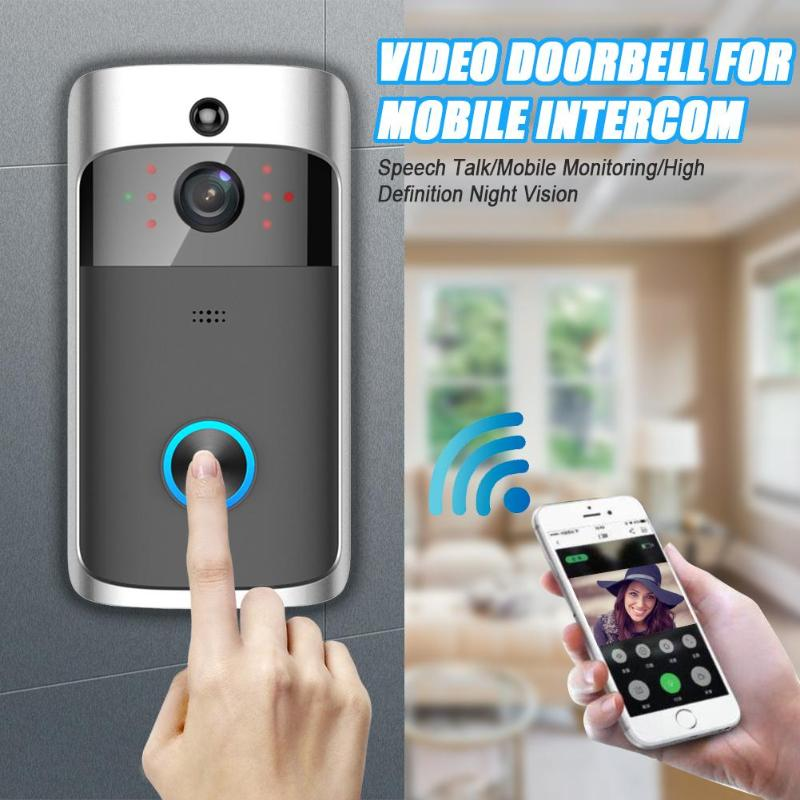 Smart Wireless WiFi Video Doorbell Door Phone 720P Camera Visual Recording Intercom PIR Motion Sensor Night Vision Remote MonitoSmart Wireless WiFi Video Doorbell Door Phone 720P Camera Visual Recording Intercom PIR Motion Sensor Night Vision Remote Monito
