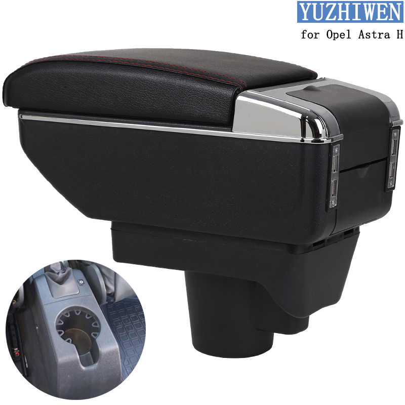 For Opel Astra Armrest Box Opel Astra H Universal Car Central Armrest Storage Box Cup Holder Ashtray Modification Accessories(China)