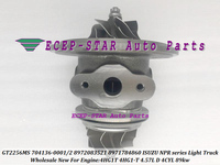 Turbo CHRA cartucho GT2256MS 704136  704136-0001  704136-0002  8972083521 de 8971784860 para ISUZU NPR camión ligero 4HG1T 4HG1 T 4.57L