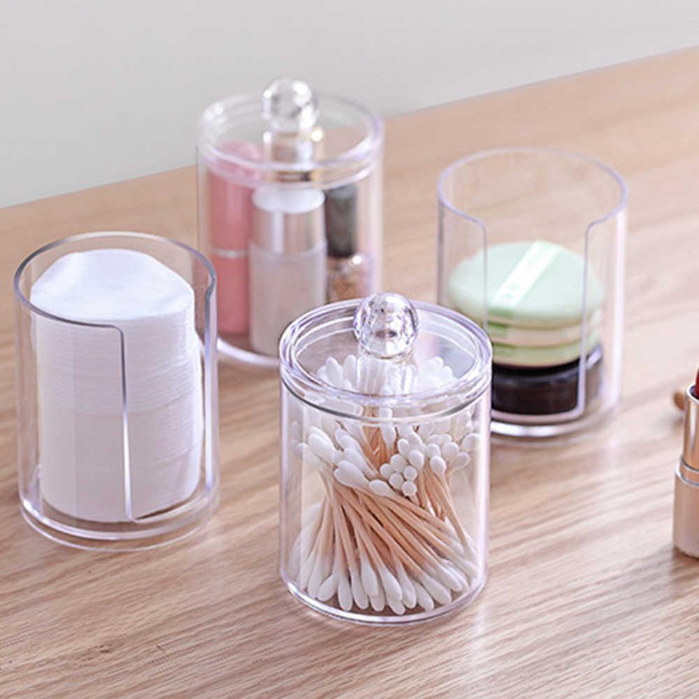 Прозрачный кухонный органайзер ящик для хранения акриловый косметический макияж пластиковый контейнер ватные тампоны держатель колодки Посуда