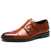 New Men Dress Shoes Fashion Casual Gentlemen Leather Shoes Formal Shoes Slip On Business Men Shoes Big Size 48