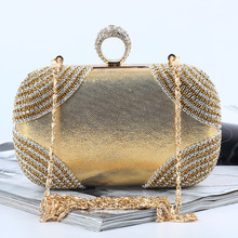 New Fashion Evening Clutch Bags Diamond evening bags women Handbag knucklebox Ring bag Wedding Party With Chain crossbody bags. цены