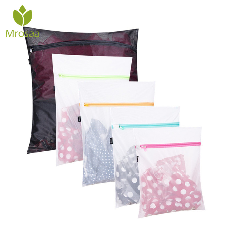Bathroom:  Mrosaa 5pcs Multi-function Mesh Laundry Bags Travel Storage Packing Wash Clothes Pouch Luggage Organizer Bathroom Products - Martin's & Co