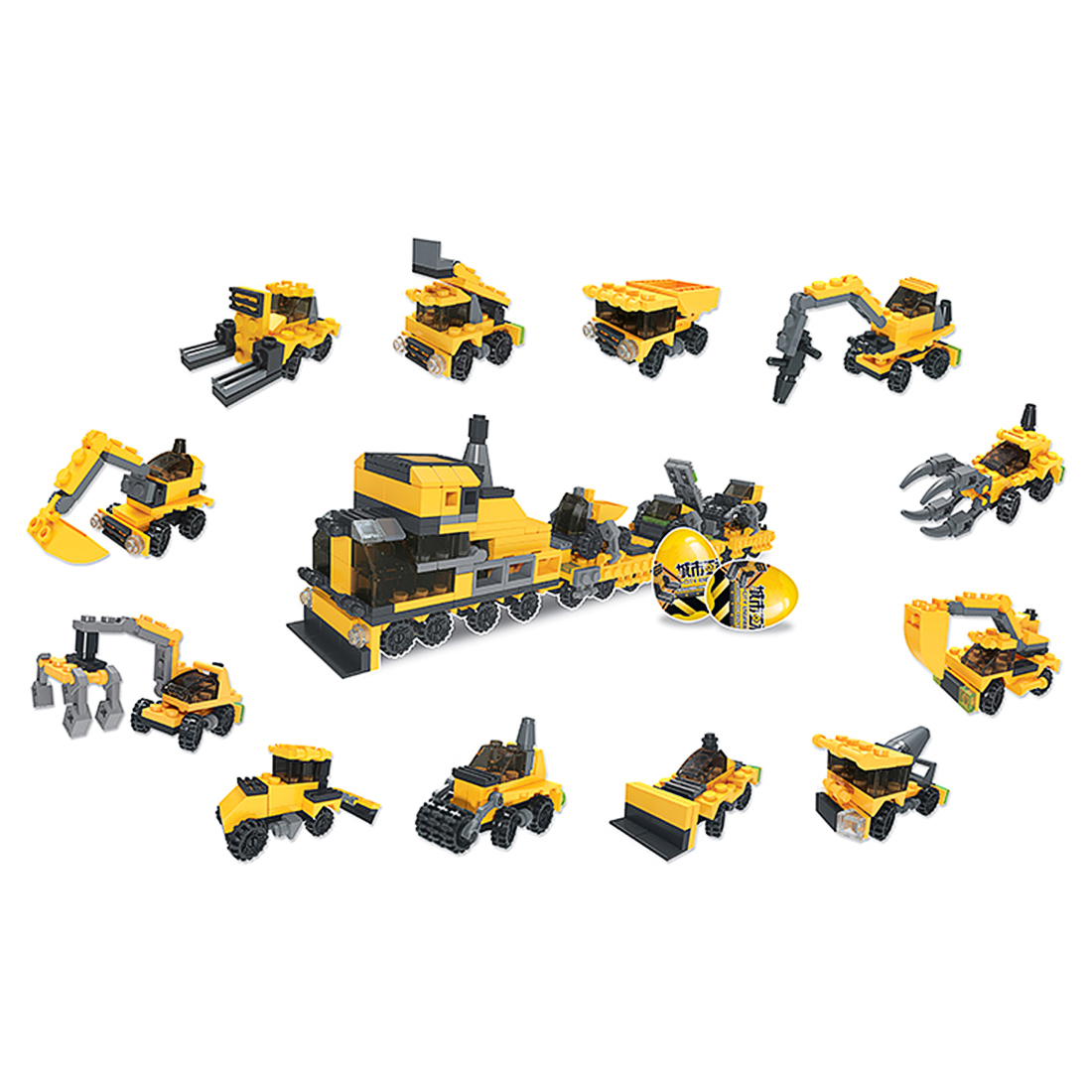 12 In 1 City Engineering Technic Car Transport Vehicle
