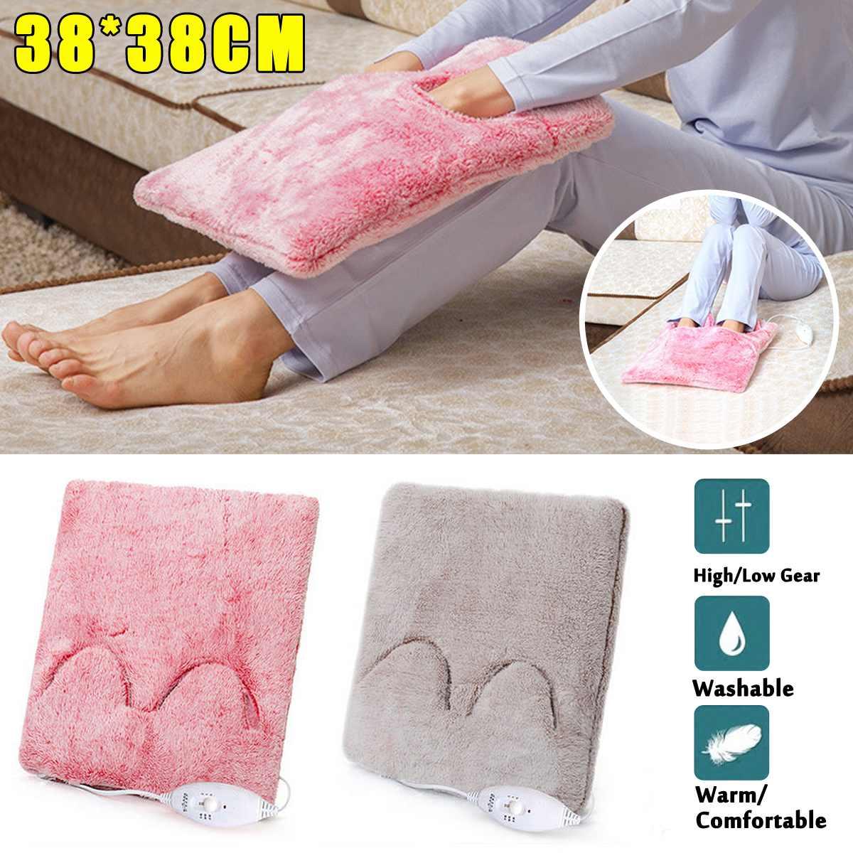 Portátil 220 v 20 w elétrica mãos pés aquecedor cobertor almofada sapato fogão de inverno assentos sofá cadeira mais quente almofada tapete destacável