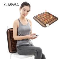 KLASVSA Electric Heating Tourmaline Seat Thermal Mat Tourmaline Mattress Natural Stone Butt Relax Far Infrared Therapy Massage