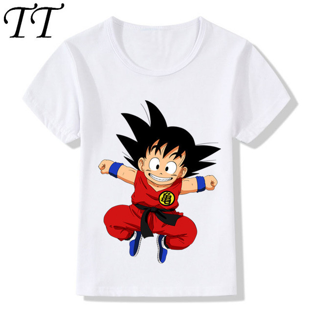 Trẻ em Phim Hoạt Hình Dễ Thương Toddler Goku Thiết Kế Vui T-Shirt Trẻ Em Bé Phim Hoạt Hình Dragon Ball Z Quần Áo Bé Trai Cô Gái Mùa Hè Tops Tee, HKP5072