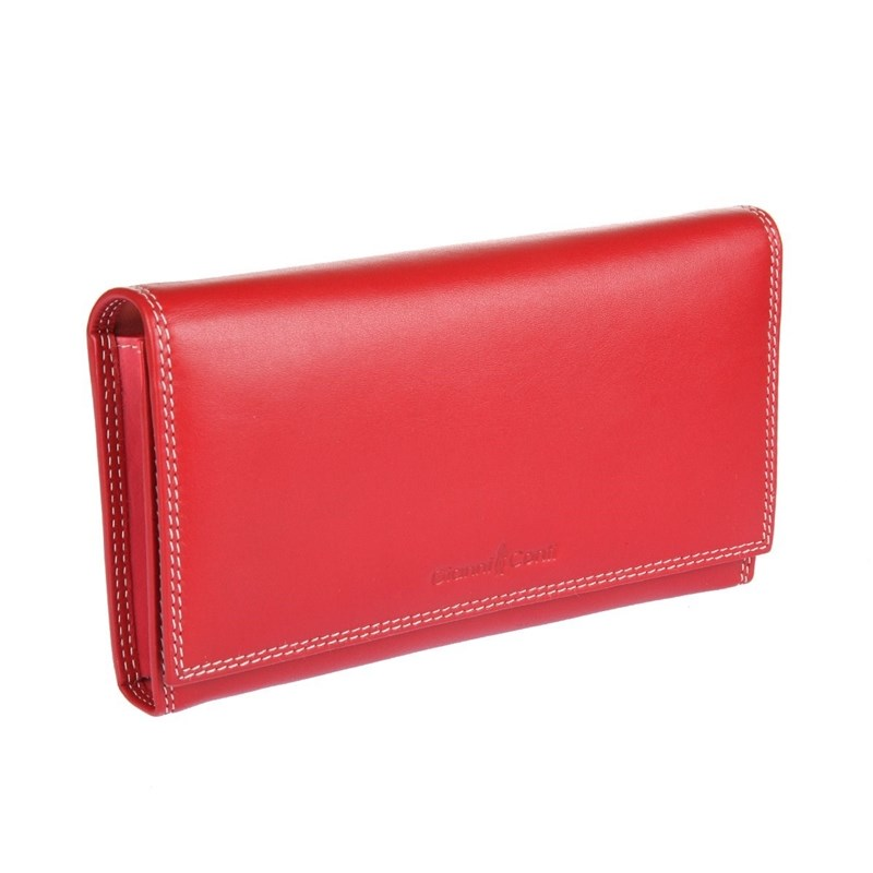 Coin Purse Gianni Conti 1808021 El. Red multi eastnights vintage crazy horse handmade leather men wallets multi functional cowhide coin purse genuine leather wallet tw1603