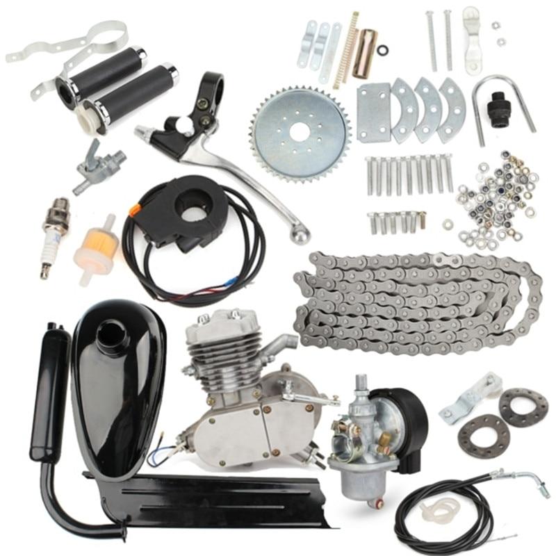 80cc 2 Fahrrad Motorrad Hub Benzin Motor Kit Für DIY Elektrische Fahrrad Mountainbike Komplette Set Bike Gas Motor Motor