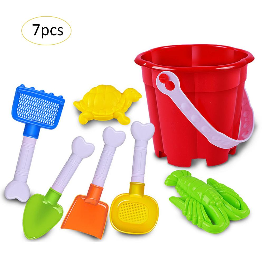 7 Sets Of Beach Shovel Summer Outdoor Children's Play Toys Beach Bucket Set Water Toys SandBox Set Kit Sea Sand Bucket