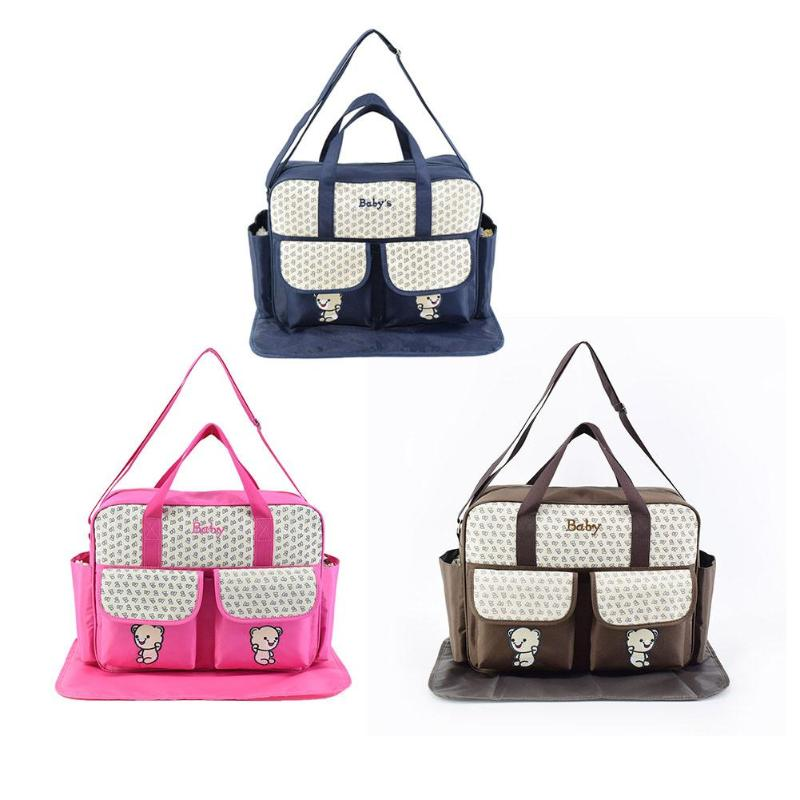 Baby Diaper Bag Cute Bear Large Capacity Mummy Bag Convenient Stroller Maternity Nappy Bags Mummy Gifts