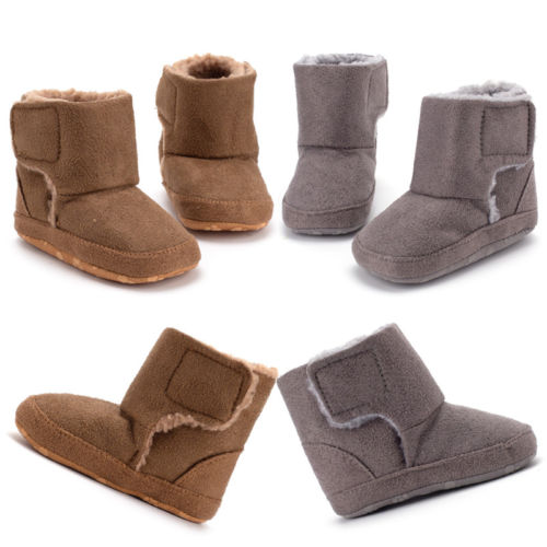 Infant Baby Boy Girl Shoes Baby Boots Soft Sole Solid Newborn Shoes Prewalker Anti-slip Boots Slippers Winter Warm 0-18M
