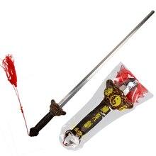 Роскошный Выдвижной Телескопический меч Тай Чи из нержавеющей стали Телескопический меч Боевые искусства кунг-фу оружие подарки на день рождения