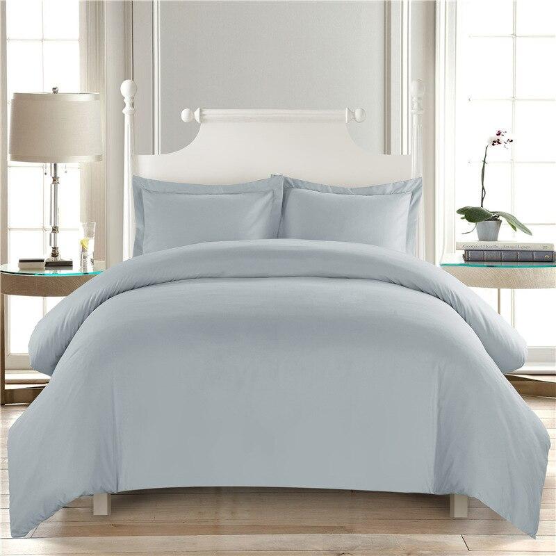 Ev ve Bahçe'ten Nevresim'de Saf renk beyaz yorgan yatak setleri Otel Yorgan yatak örtüsü seti Kral ev Yatak Örtüsü Yastık kılıfı Yatak Odası dekorasyon Çift title=