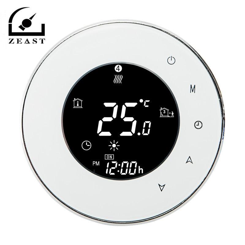 WiFI Tela Touc h Sala de Aquecimento Termostato Digital Inteligente Termostato Programável Quarto Controlador de Temperatura