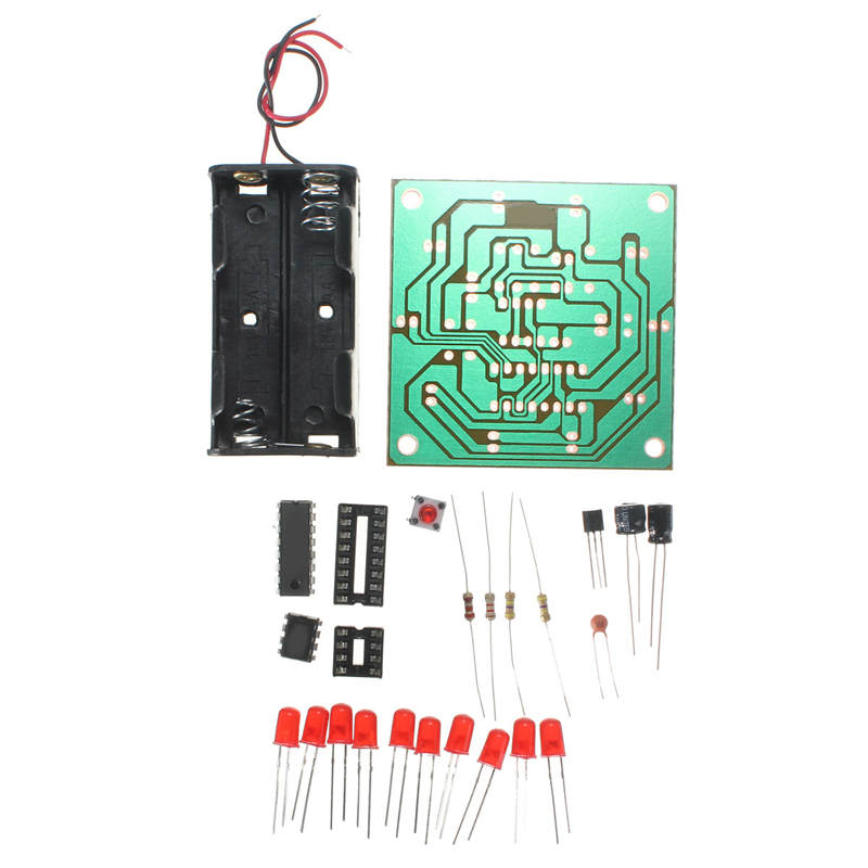 Gehorsam Elektronische Diy 10 Led Flash-kit Rad Mehr Stabile Und Zuverlässige Mit Anweisungen Led Diy Integrierte Schaltungen Module Bord Online Rabatt