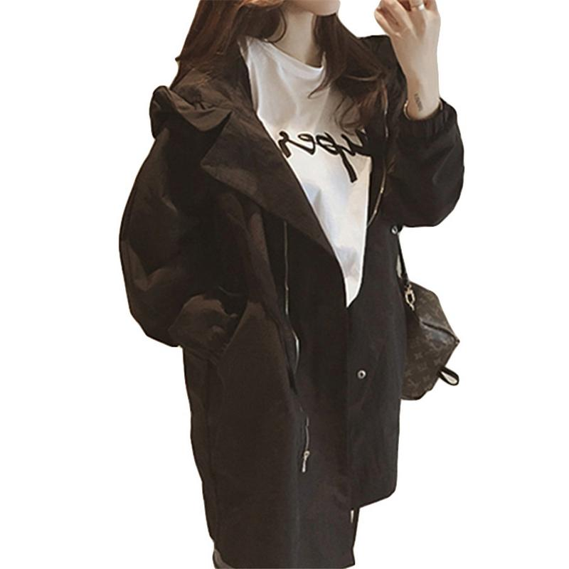 New Fashion 2018 Fall Autumn Women Casual Oversized Large Pockets Long Loose   Trench   Coat Thin Female Windbreaker