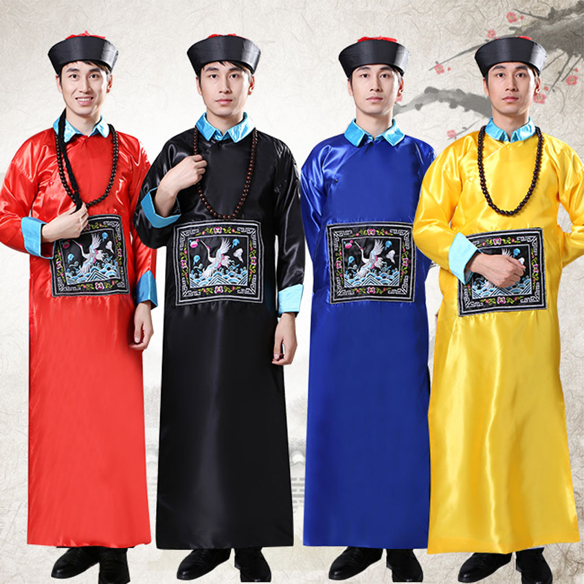 Halloween Fancy Children Boys Chinese Traditional Zombie Cosplay Costumes Vampire Qing Dynasty Tang Suit Gown Performance
