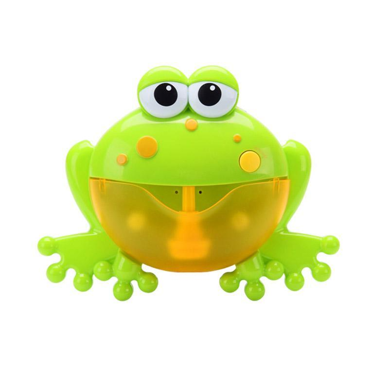 Baby Bath Toy Bubble Machine Big Frogs Automatic Bubble Maker Blower Music Bubble Maker Bathtub Soap Making Toys For Children