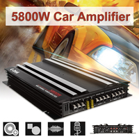 Audew 5800W Aluminum Alloy Car Amplifier Multichannel Powerful Car Audio Amplifier Vehicle Power Stereo Amp Car Sound Amplifiers
