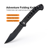 black silver JelBo Karambit Folding Knife Pocket Hunting Blade Survival Knives Tactical Kitchen Stainless Steel Black Silver Hand Tools (3)