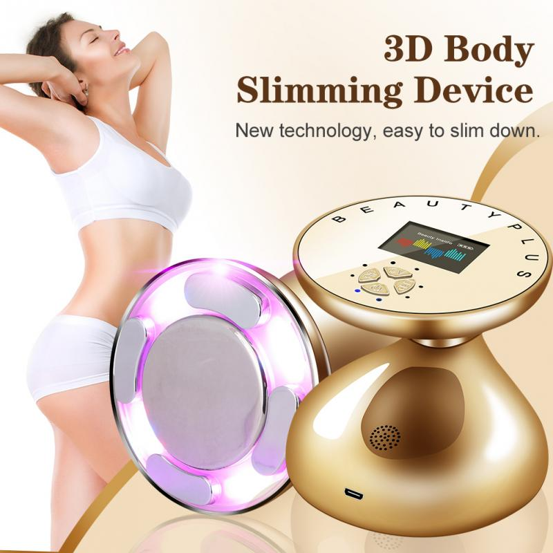 RF LED Ultrasonic Body Slimming Massager Skin Lifting Rejuvenation Fat Removal Anti Cellulite Slimming Tightening Tool
