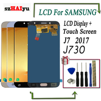 szHAIyu LCD Display J730 Brightness Adjustale Touch Screen For Samsung galaxy J7 2017 J730 LCD Digitizer Assembly With Tools
